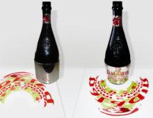 Concept per etichetta natalizia in anamorfosi – Birra Baladin