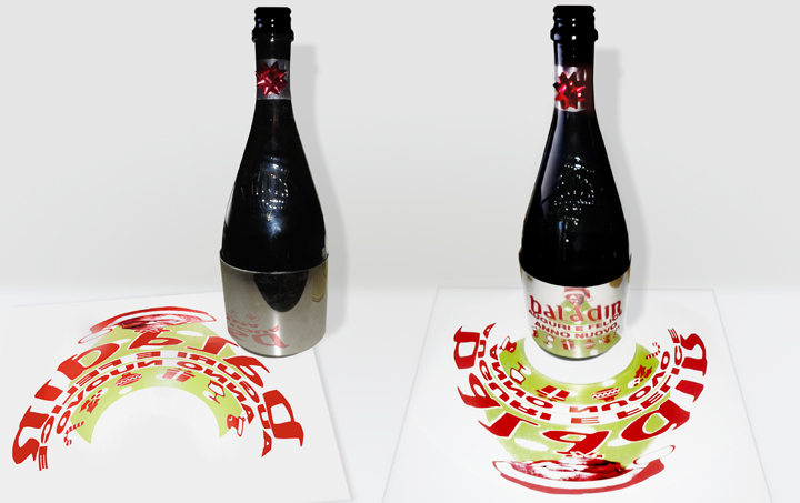 Etichetta Anamorfosi Birra Baladin_Label design Anamorphosis Baladin beer