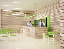 Interior design, bar e self-service | concorso nuovo carcere di Bolzano